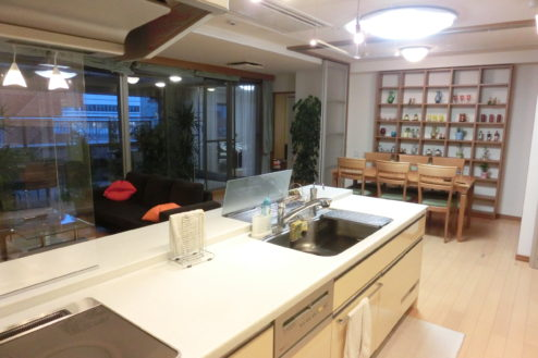 1.新宿2丁目マンションスタジオ 対面式キッチン