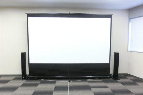13.新宿2丁目社長室スタジオ|120インチスクリーン