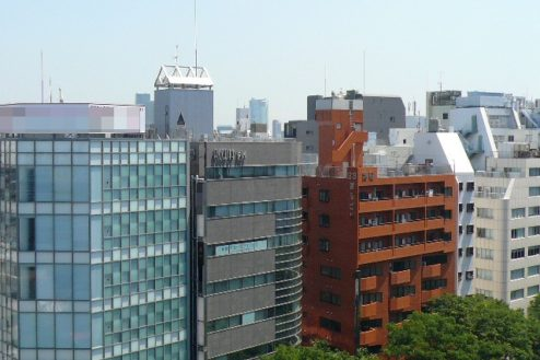 22.新宿3丁目オフィススタジオ|屋上からの風景
