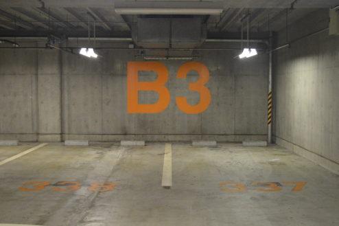 10.タイムズ東京ドーム地下駐車場|駐車枠