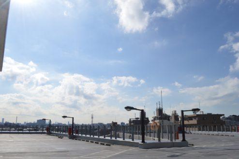 2.赤羽駅西口駐車場|屋上駐車場全体