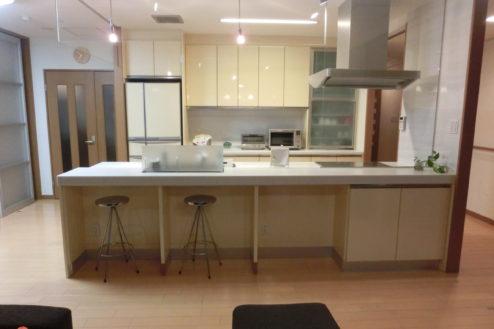 7.高商新宿二丁目マンションスタジオ|対面式キッチン