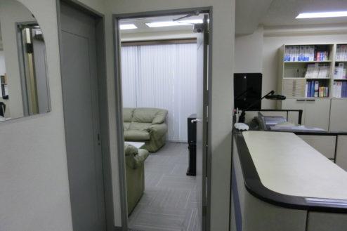 10.新宿3丁目オフィススタジオ|オフィスから控室