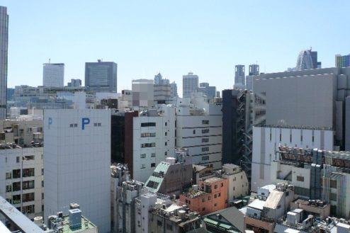 17.新宿3丁目オフィススタジオ|屋上からの風景