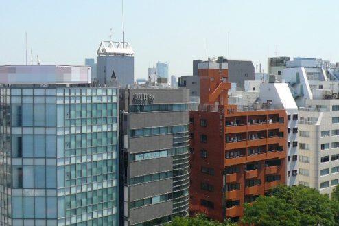 18.新宿3丁目オフィススタジオ|屋上からの風景