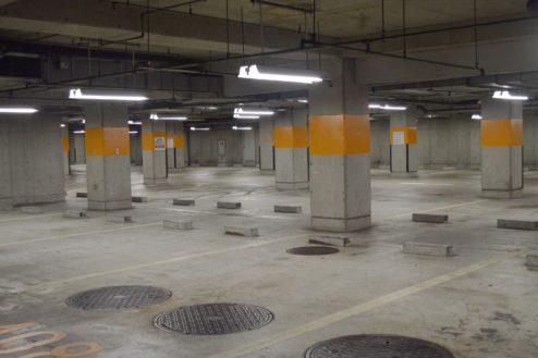 5.タイムズ東京ドーム地下駐車場|駐車場内