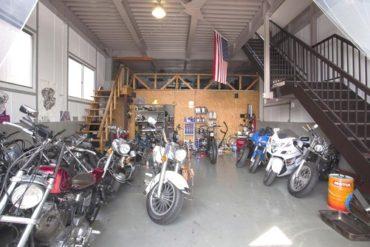 ハーレー・ガレージ|工場・バイク・オフィス・カフェ