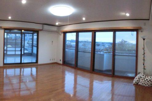 4.つつじヶ丘マンションスタジオ|LDK窓側