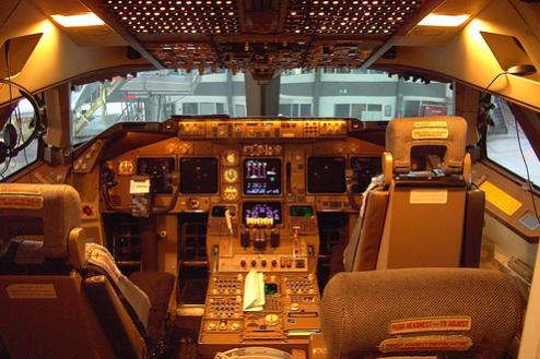 4.飛行機スタジオ(モックアップ) コックピット
