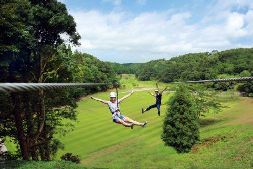 5.リソル生命の森|ターザイニア・ロングジップスライド(ジップライン)