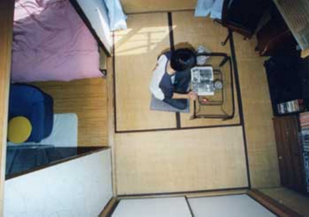 14.Eスタジオ|俯瞰イメージ(202号室)