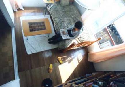 17.Eスタジオ|俯瞰イメージ(202号室)