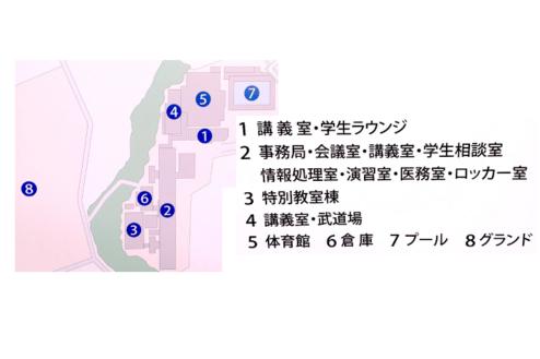 7.学校3(North Area)|校舎配置図