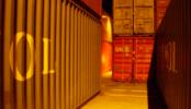 コンテナヤード1|夜間・横浜市