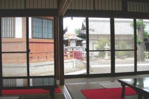10.寺|応接間から外風景