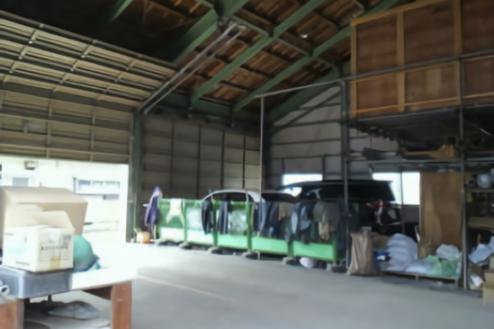 中型の倉庫|倉庫前スペース