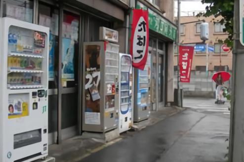 5.たばこ屋|店前通路