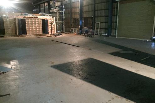15.飛行機スタジオ|広い準備スペース