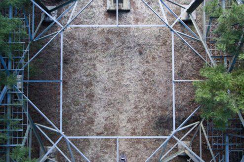 6.スタジオTOKYOはにわAVENUE|鉄塔下(上から)