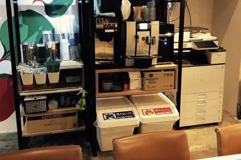 19.cafeイベントスペース|店内・コーヒーマシン