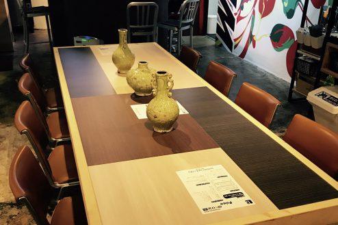 H.cafeイベントスペース|店内・Lテーブル