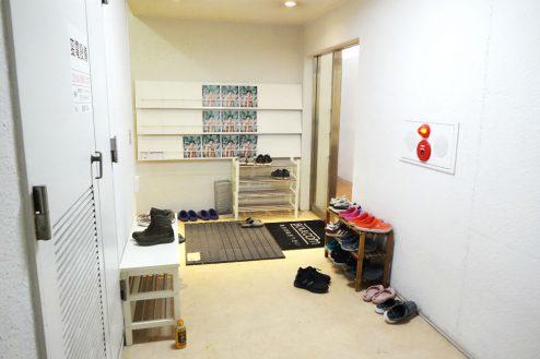17.ボルダリング・クライミングジム|店舗入口前スペース