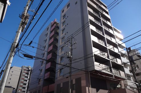 亀戸マンション|金物店・事務所・倉庫・階段・屋上|東京