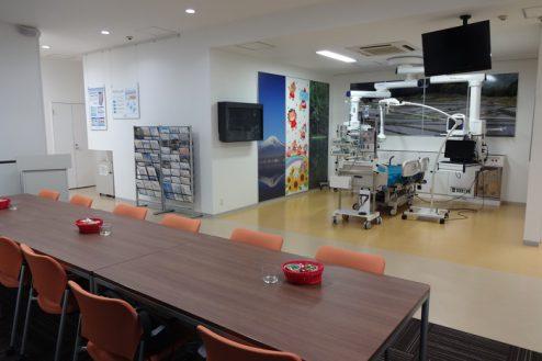 15.手術室|ミーティングルームから集中治療部設置ゾーン