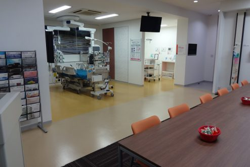 16.手術室|ミーティングルームから集中治療部設置ゾーン
