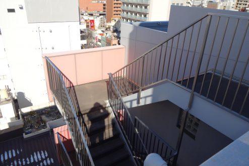 15.亀戸オフィス・倉庫|外階段