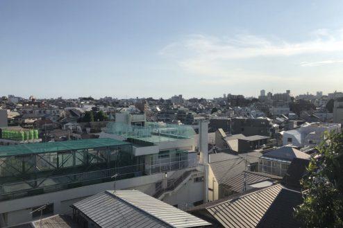 30.女子大新座キャンパス|屋上からの風景