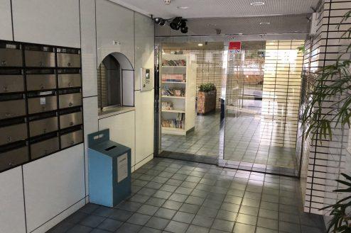 11.西新宿マンションスタジオ共用部|エントランス・集合ポスト