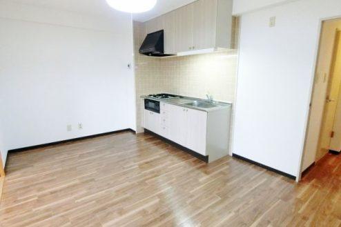6.茂原一棟マンションスタジオ|室内・キッチン