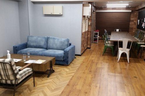 1.神田オフィス|応接ソファー席・ミーティングスペース