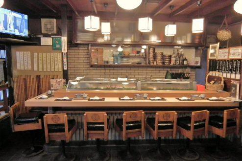 4.扇寿司|1F店内・カウンター席(7席)