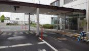 旧病院|駐車場・外観・玄関・救急車専用入口・平日