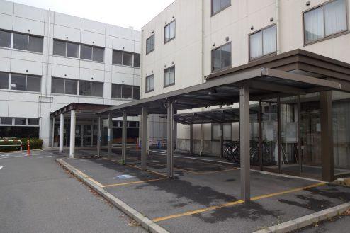 15.旧病院|玄関前通路