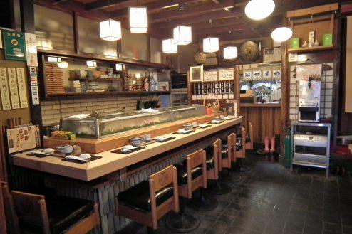 2.寿司屋・西葛西|1F店内・カウンター席(7席)