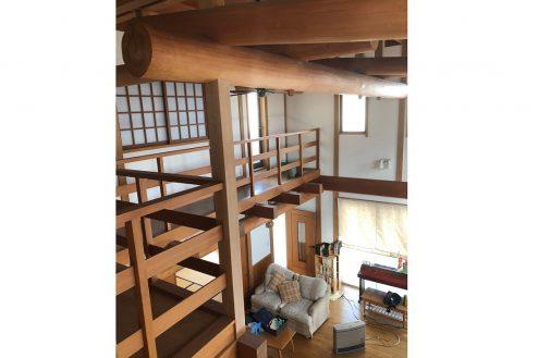 6.川崎市 日本家屋|リビング・梁・中廊下