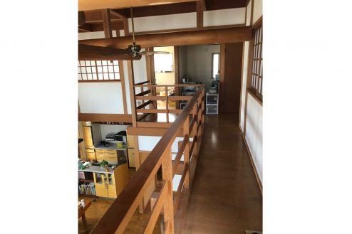 7.川崎市 日本家屋|リビング・梁・中廊下