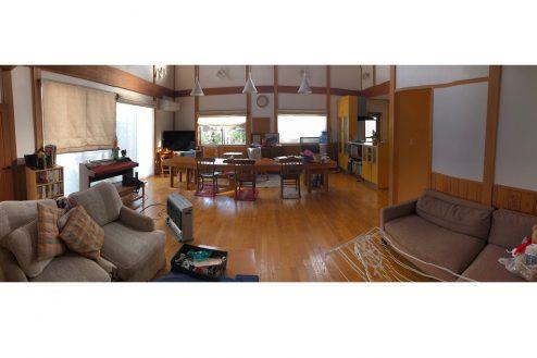 川崎 日本家屋|一軒家・リビング・吹き抜け・梁・俯瞰・庭