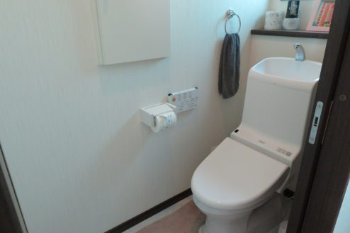 10.桜上水戸建て|トイレ