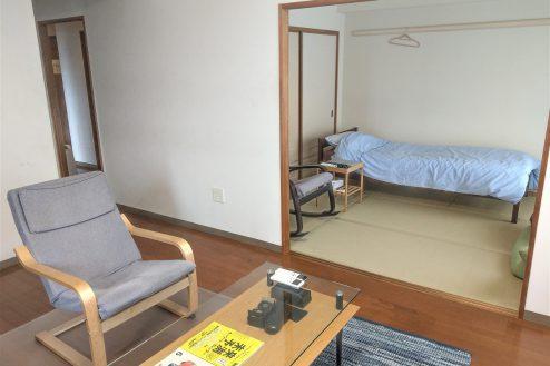 3.スタジオ和洋空間 マンション|リビングダイニング・和室