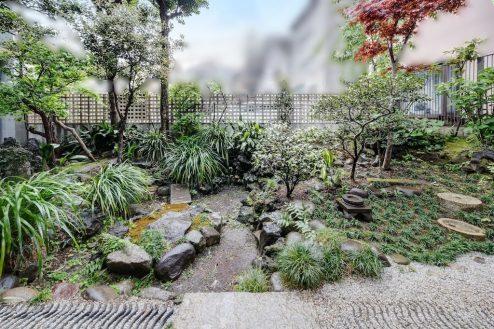16.牛込柳町戸建て 庭