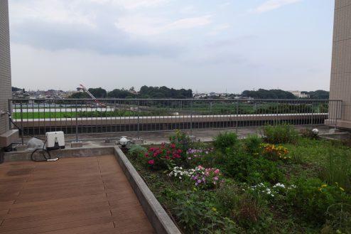 25.いろどりの国病院|屋上庭園