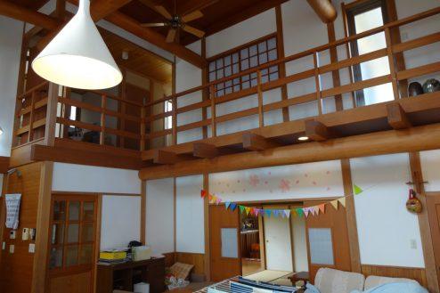 5.川崎市 日本家屋|リビング・2F廊下