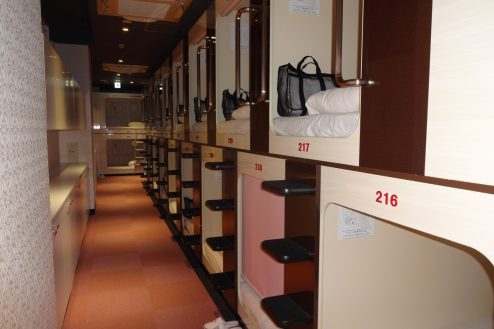 14.屋上テラス・アルビダホテル青山|ホテル・客室(スタンダードカプセルルーム)