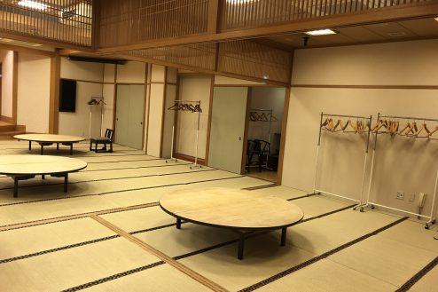 9.江戸一西新井館|3F宴会場・入り口側壁面