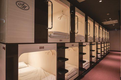 2.屋上テラス・アルビダホテル青山|ホテル・客室(スタンダードカプセルルーム)