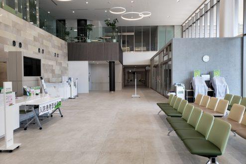久喜病院|ロビー・待合室・診察室・人工透析・霊安室・正面玄関・リハビリ室